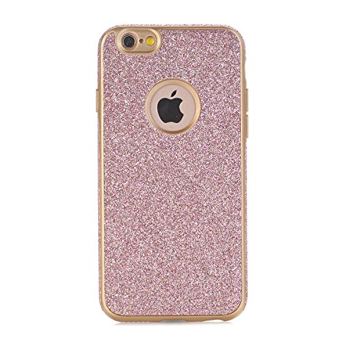 iPhone 6 / 6S Hülle, WindTeco Weich TPU Silikon Glitzer Schutzhülle Bling Handyhülle Protective Case Cover für Apple iPhone 6 / 6S (4,7 Zoll), Rosegold