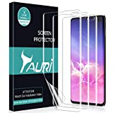 TAURI [3 Pièces] Protection Écran pour Samsung Galaxy S10 Plus, HD [Installation d'eau] [sans Bulle] Clair TPU Film Protection