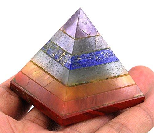Pyramidenschaumstoff Multi Farbe natur Edelstein Reiki Chakra Steine Meditation Spiritual Energy Edelstein Pyramide (Chakra Bonded 40–55mm) (Chakra Energie, Steine)
