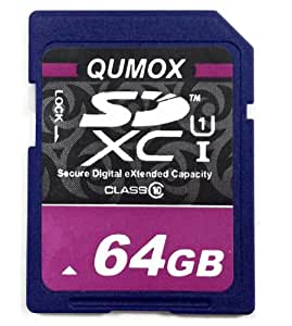 64 Go QUMOX / s 50 Mo SD XC 64 Go Class 10 Carte mémoire Secure Digital