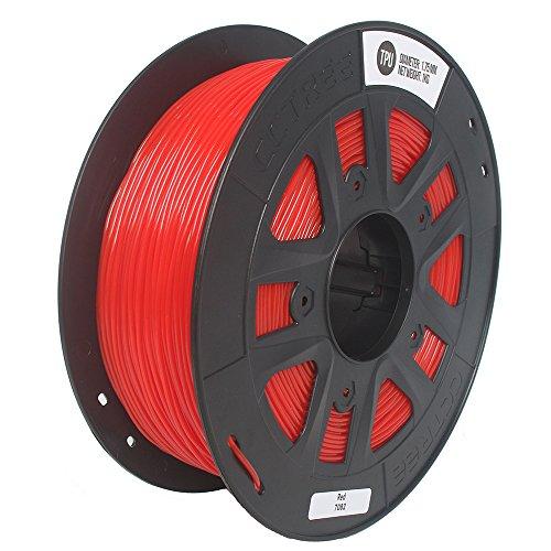 CCTREE 3D Printer TPU Flexible Filament 1.75MM For Creality CR-10S,1kg Spool (2.2lbs) Red