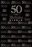 YongFoto 1,5x2,2m Vinilo Fondo de Fotografia Fondo Negro 50 Aniversario de cumpleaños Fiesta Sorpresa Fondo Telón de Fondo Photo Booth Infantil Party Banner Niños Photo Studio Atrezzo