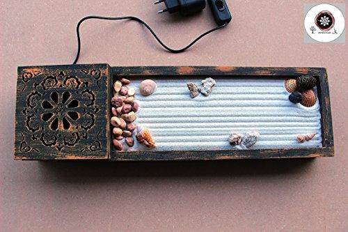Jardin zen para Interior de Hogar o para la Decoracion en estilo Feng shui con luz a led ॐ Zensimongardens®