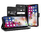 MyGadget Flip Case PU Cuir Support pour Apple iPhone X/XS Coque Fermeture magnétique...