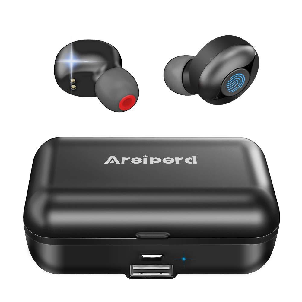 Auriculares Inalámbricos Bluetooth 5.0, Auriculares Deportivos En La Oreja, 60H ReproduccióN CancelacióN de Ruido 3D Ipx5 Resistente al Agua, MicróFono Incorporado con Funda de Carga de 2000 mAh