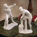 Design Toscano Die klassischen griechischen Skulpturen: Le Gladiateur Borghese und Hermes mit Sandalen, Set