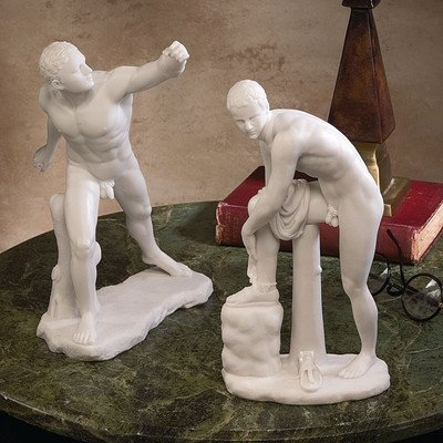 design-toscano-the-classic-greek-sculptures-le-gladiateur-borghese-and-hermes-with-sandal-set