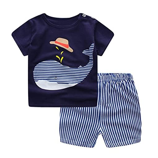 0yedens-Newborn-Toddler-Kids-Baby-Boys-Girls-Short-Sleeve-Catoon-T-Shirt-Stripes-Short-Pants-Outfits-Set