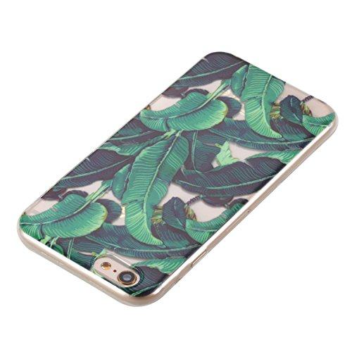 Custodia iPhone 6, iPhone 6S Cover Silicone, SainCat Cover per iPhone 6/6S Custodia Silicone Morbido, 3D Design Ultra Slim Transparent Silicone Case Ultra Sottile Morbida Transparent TPU Gel Cover Cas Piantaggine