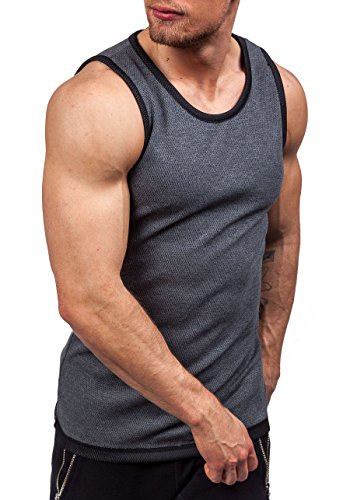 BOLF Herren Tanktop T-Shirt Ärmellos Muskelshirt Classic ATHLETIC 0489-1 Anthrazit
