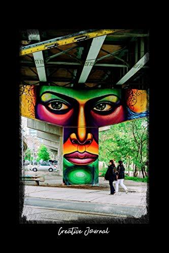 Creative Journal: Dot Grid Journal - Public Bridge Infrastructure Wall Street Art - black Dotted Diary, Planner, Gratitude, Writing, Travel, Goal, Bullet Notebook - 6x9 120 pages -