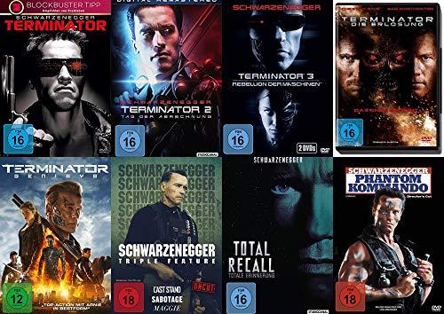 10 Filme ARNOLD SCHWARZENEGGER Mega Uncut Collection - Terminator 1 2 3 4 5 + Last Stand + Sabotage + Maggie + Total Recall + Phantom Kommando DVD Edition
