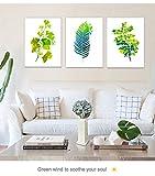 Spécifications techniques: - Marque: PIY painting  - Theme : Impression sur toile de feuille verte Simple et haute de gamme  - dimension : 30x40cm / 12x16 inchs -Quantité : 3 pieces - couleur : vert  - Impermeable : oui  - Toile économique : oui -...