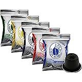 5x50 capsule Borbone Respresso DEGUSTAZIONE 50 NERA, 50 BLU, 50 RED, 50 ORO,50 DEK compatibili Nespresso