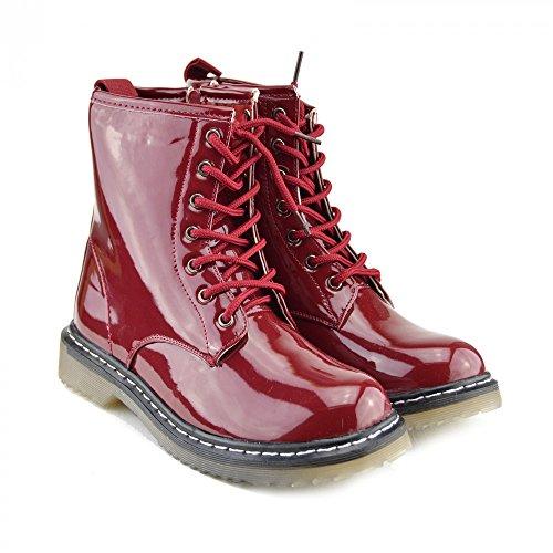 Kick scarpe da donna pizzo caviglia retro da bagagliaio da donna funky vintage fangbanger martin caviglia bagagliaio Red Dark