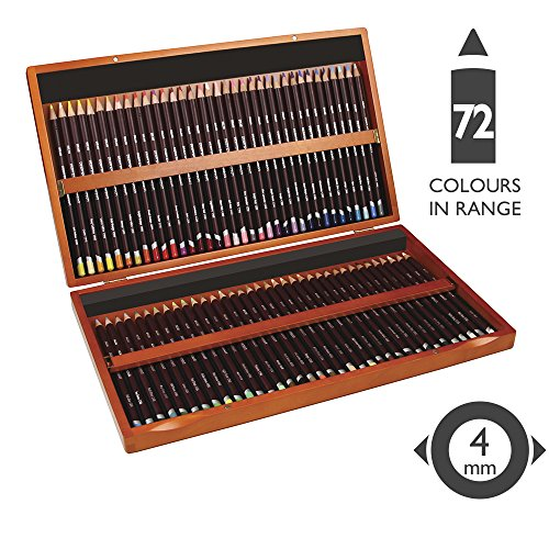 Derwent Coloursoft Colouring Pencils, Set of 72 in Wooden Gift Box, Professional Quality, 0701031, Multicolor