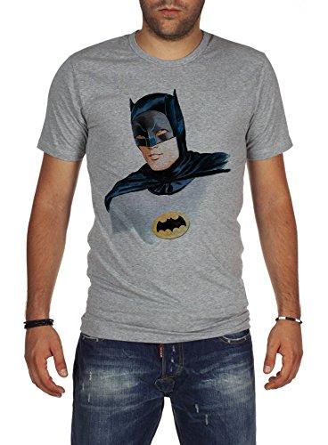 Palalula Herren Adam West Batman Robin 60s Tribute T-Shirt Grey