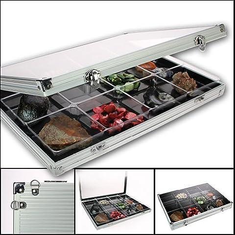 SAFEPRINT 5875de colección de vitrina de aluminio 12compartimentos