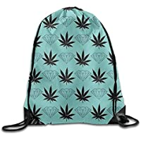 ewtretr Bolsos De Gimnasio, Hamburger Food Printed Designs Drawstring Backpack Girls Lightweight Daypack Tote Volleyball