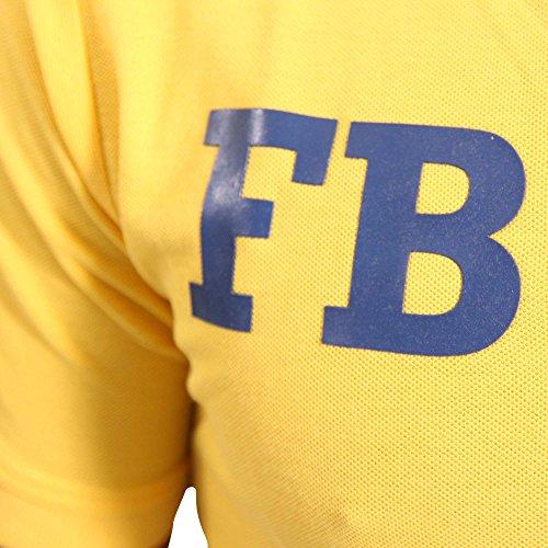 FRESH BRAND Herren Kurzarm Polo Shirt YELLOW in Gelb Gelb