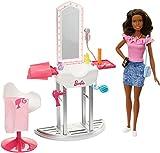 Barbie Barbie-FJB37 Métiers Coffret Salon de Beauté et de Coiffure avec poupée...