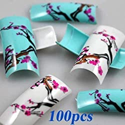 100 Stunning Mixed Flowers Designs French False Nail Art Tips NEW by 350buy