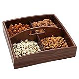 Plato de Fruta para el hogar Caja de Dulces Nuts Plato de Frutos Secos Semillas de Comida (Color : B)