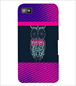 PrintDhaba Owl D-3532 Back Case Cover for BLACKBERRY Z10 (Multi-Coloured)