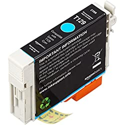 AmazonBasics - Wiederaufbereitete Tintenpatrone für Epson Apple T129 Cyan