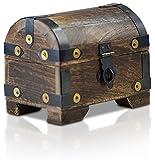 Bauern-Kasse Schatz-Truhe Schatz-Kiste aus Holz (Klein S)