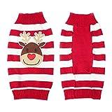 YiJee Animale Domestico Maglione Maglieria Cane Natale Puppy Coat Apparel Rosso 2XL