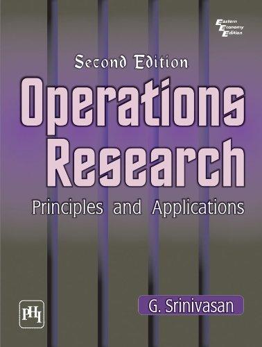 OPERATIONS RESEARCH : PRINCIPLES AND APPLICATIONS por G. Srinivasan