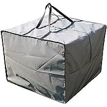 Bolsa para Cojines del Set de Lounge | 80 x 80 x 60 cm (L x A x A) | Gris | Semi-Impermeable | SORARA | Poliéster (UV 50+) | Para exterior Muebles de Jardín, Terraza, Patio