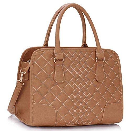 Trendstar Handbags Luxury Ladies Women Faux Leather Shoulder Large Tote Bags Of Nude 1