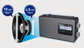 10 cm großer Lautsprecher