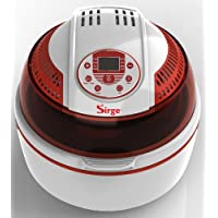 Friggitrice ad Aria Digitale Automatica Turbo Forno Multifunzione Ventilato cottura senza olio e grassi Max 1400 Watt Cottura senza Olio 80% di grassi in meno