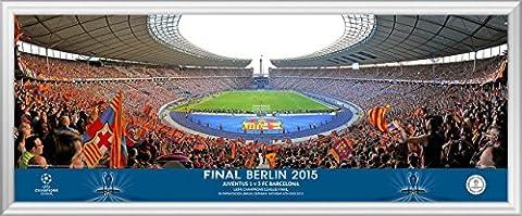 2015 UEFA Champions League But de football Match Final Panoramique derrière - Finale Framed
