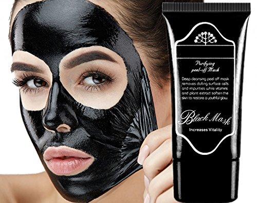 Flecken Schwarze Auf Gesicht (LUCKYFINE Maske für Gesicht Entfernung von schwarzen Punkten und Anti Akne Peel Off Maske schwarze Gesichtsbürste entfernen Komedos)