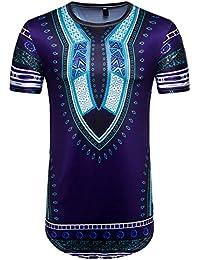 Dxlta PoLo Camisas para hombres - Camiseta Jacquard de moda Camiseta de manga corta africana gh9lpx2z