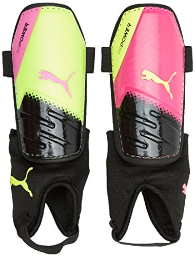 Puma Schienbeinschoner EvoPower 3.3 Pink Glo/Safety Yellow/Black/Tricks L