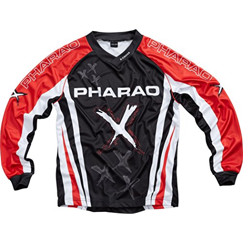 Pharao X Shirt, Jersey Kinder Textil Jersey 1.0 rot M, Cross/Offroad, Sommer
