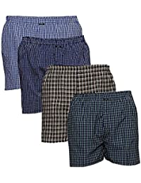 SUPER DEAL BAZZAR STORE Checkered Men's Boxer - (Size:- Free, Pack of 4)