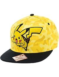 Pokemon Character Pikachu Camouflage Hat Snapback Baseball Cap Os  Yellow black f568b6fd79c0