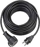 Brennenstuhl Bremaxx - Cable alargador de Corriente (IP44, 15 m), Color Negro