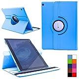 COOVY® Cover für Huawei Mediapad M3 Lite 10 Rotation 360° Smart Hülle Tasche Etui Case Schutz Ständer | Farbe hellblau