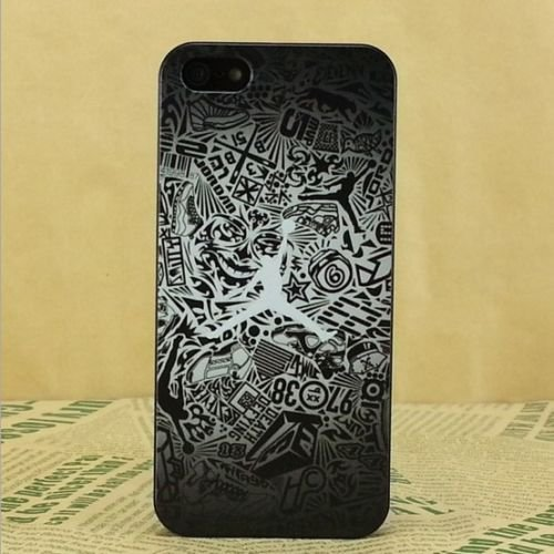 NEW AIR JORDAN BLACK LOGO JUMP SOFT PC CASE FOR APPLE IPHONE 8 J2 J4