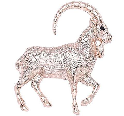 Émail créatif Broche peinte à la broche Personnalité Mignonne Anniversaire mouton diamant Broche animal Multicolore , rose gold