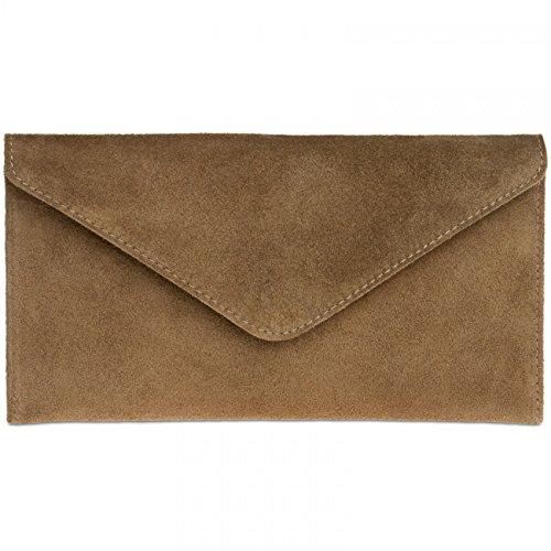 caspar-tl708-sac-a-main-enveloppe-en-daim-clutch-pour-femme-couleurkakitailleone-size
