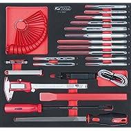 KS Tools 7120021 SCS Meißel und Messwerkzeug Satz, 21 teilig in 2/3 Systemeinlage