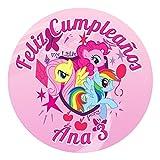 OBLEA de Papel de azúcar Personalizada, 19 cm, diseño de Mi Pequeño Pony